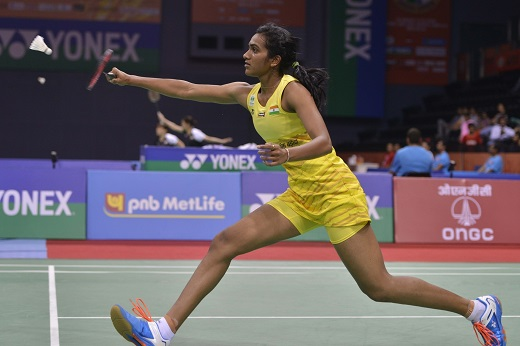 PV Sindhu and Saina Nehwal face to face at Delhi yesterday