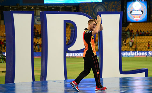 David Warner during the presentation ceremony organised after the final match of IPL 2016