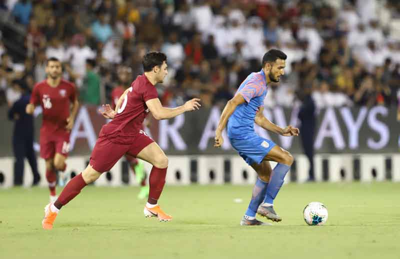 India hold Asian champions Qatar to a goalless draw