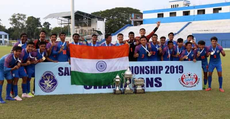 India lifts U 15 SAFF Football title