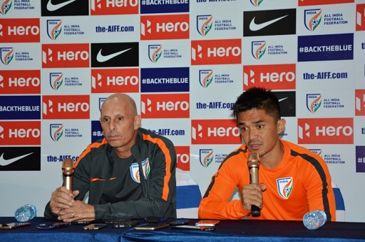 Sunil Chettri and Stephen Constantine
