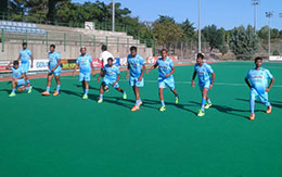 India Men Team at a Practice Session in Spain 1