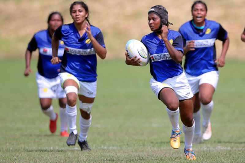 Indiawomen rugby team action