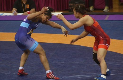 Sakshi Malik in Asian Wresling Championships